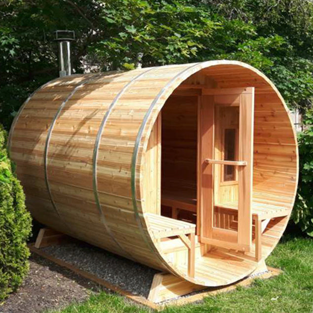 The Muskoka Outdoor Barrel Sauna 7' Dia x 7' Long
