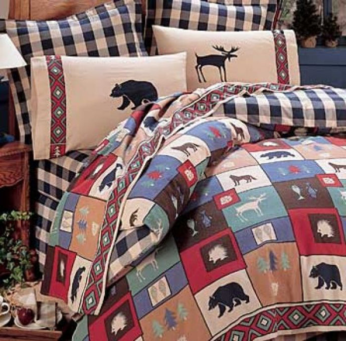 The Wood Checkered Comforter Set