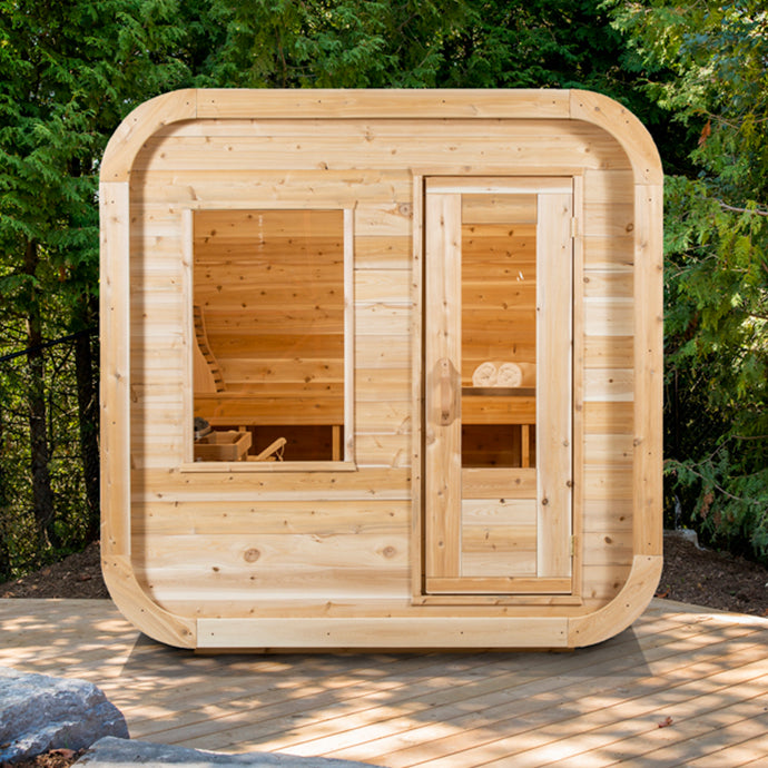 White Cedar Luna Sauna 6ft 6in x 6ft 6in