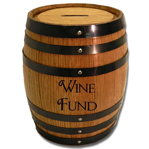 Wine Fund Mini Oak Barrel