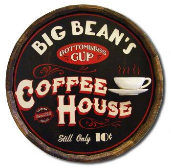 Coffee House Barrel Sign