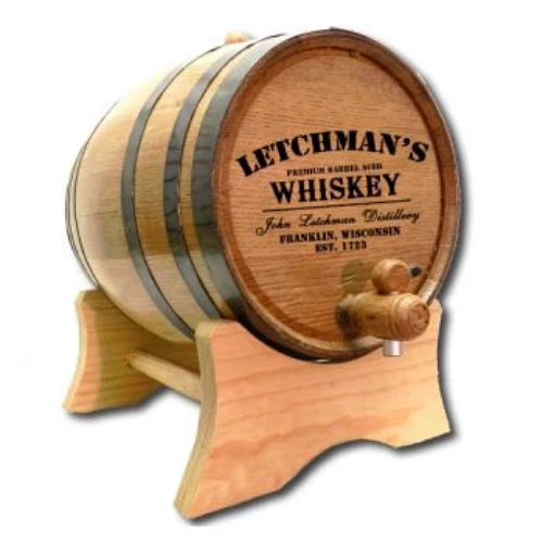 Distillery Whiskey Personalized Oak Barrel