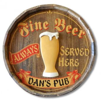 Fine Beer Quarter Barrel Sign