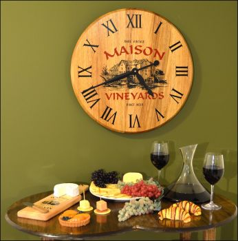 Maison Vineyards Bar Clock