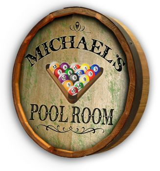 Pool Room Quarter Barrel Sign