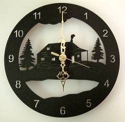 Rustic Clock with Wildlife