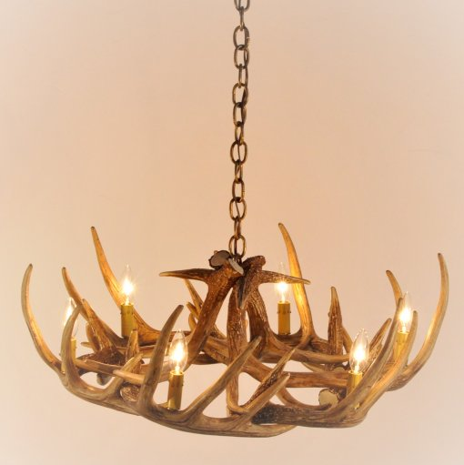 Whitetail Deer 9 Antler Chandelier