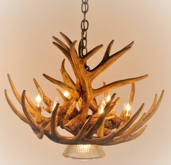 Whitetail Deer 9 Antler Cascade Chandelie