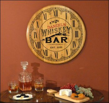 Whiskey Bar Clock