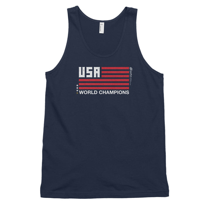 World Champions Flag Navy Classic tank top (unisex)