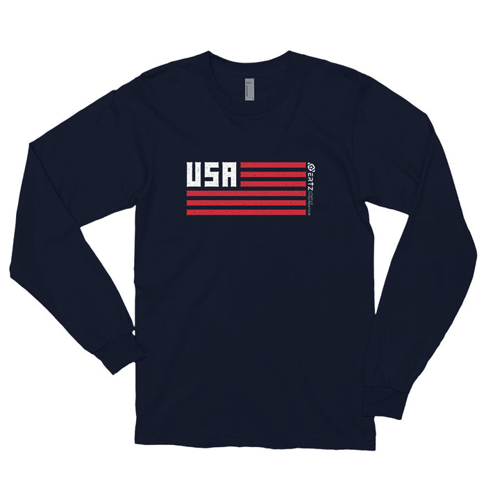 Team Julie (Navy) Long sleeve t-shirt