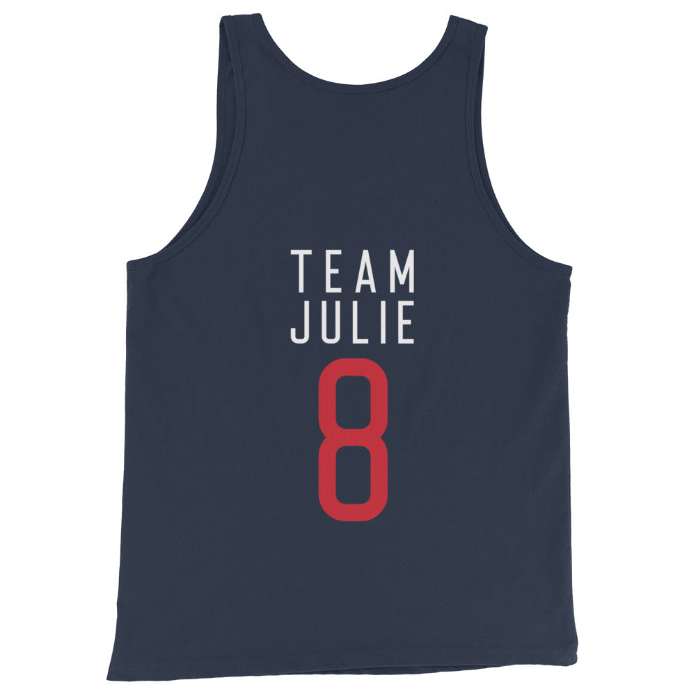 Team Julie Unisex Tank Top (Navy)