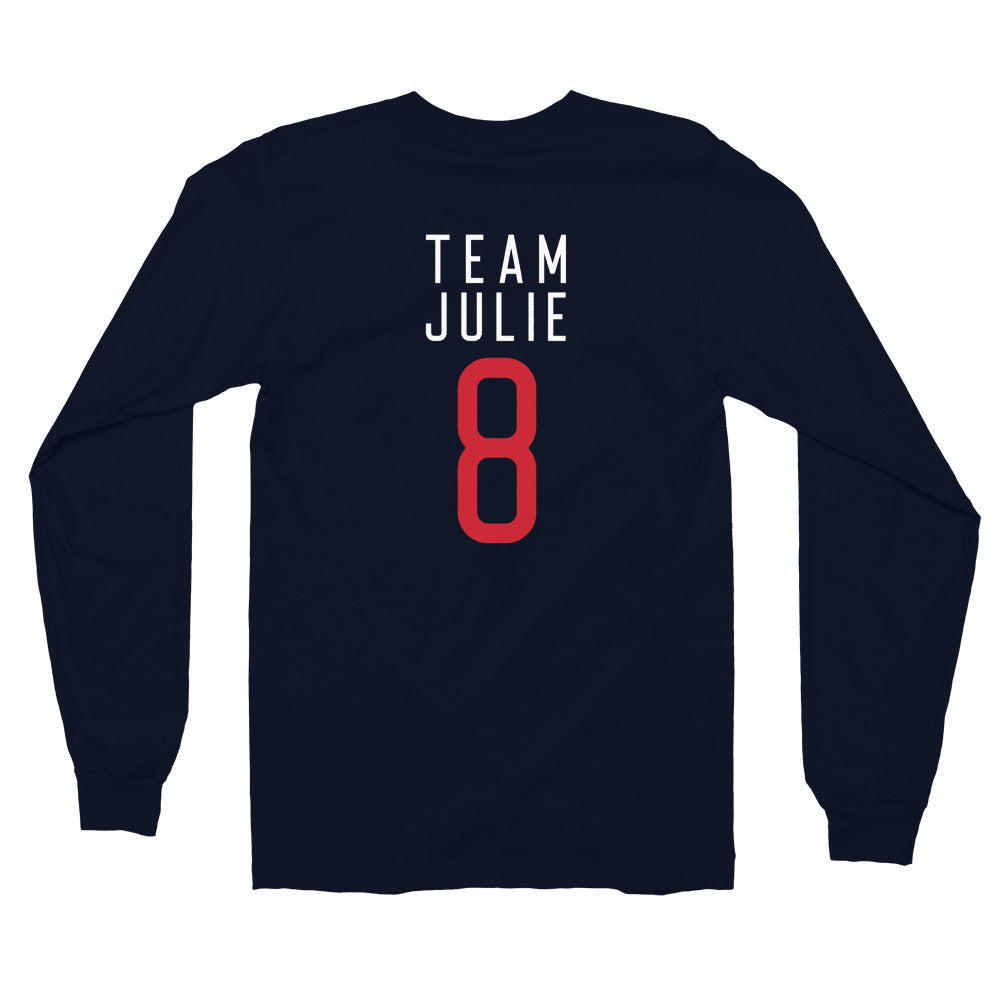 Team Julie Unisex (Navy) Long sleeve t-shirt