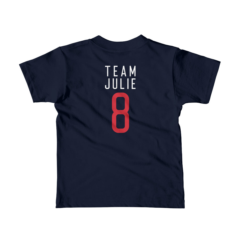 Team Julie Navy Short sleeve kids t-shirt