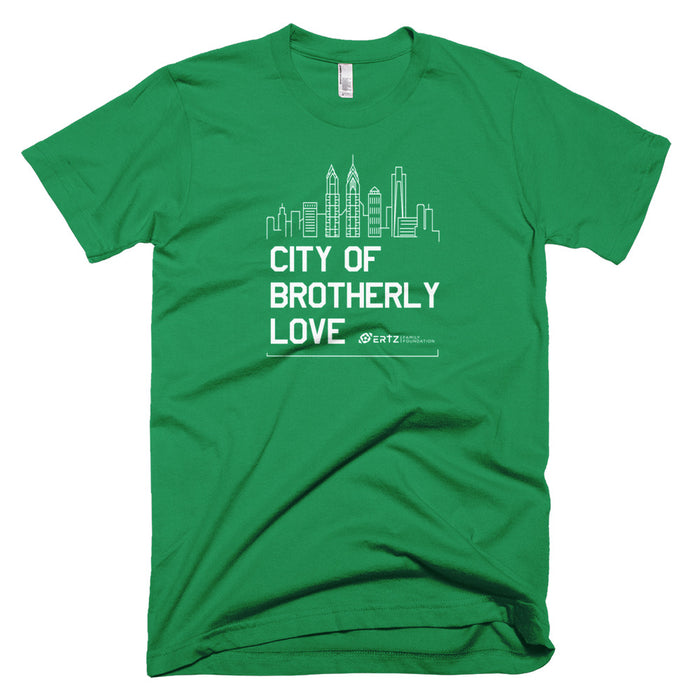 "City of Brotherly Love ""Team Ertz"" Unisex Green T-Shirt"