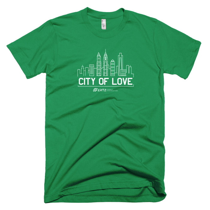 City of Love / Team Ertz - Unisex Green T-Shirt