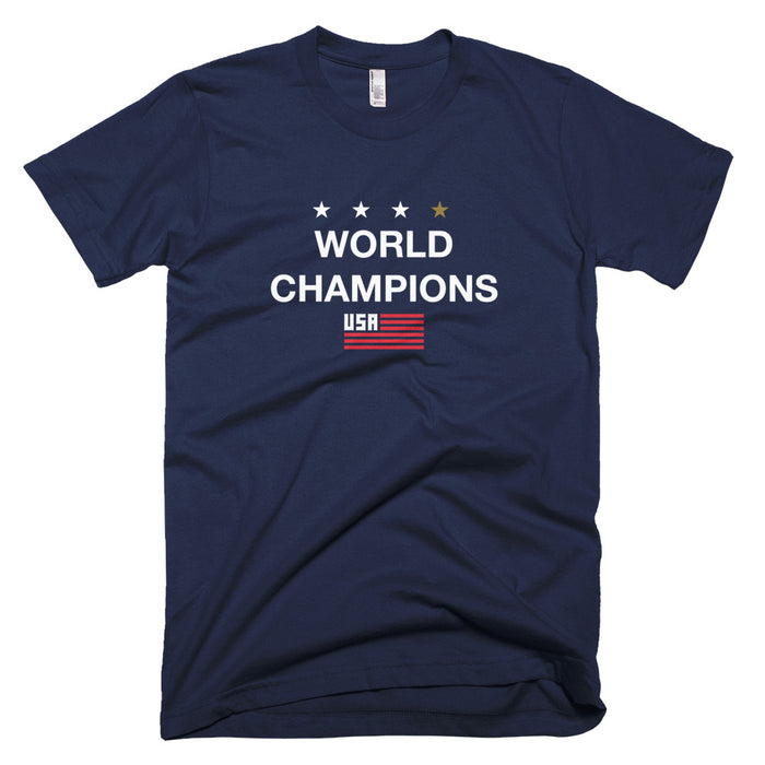 World Champions #TeamJulie Unisex Navy T-Shirt