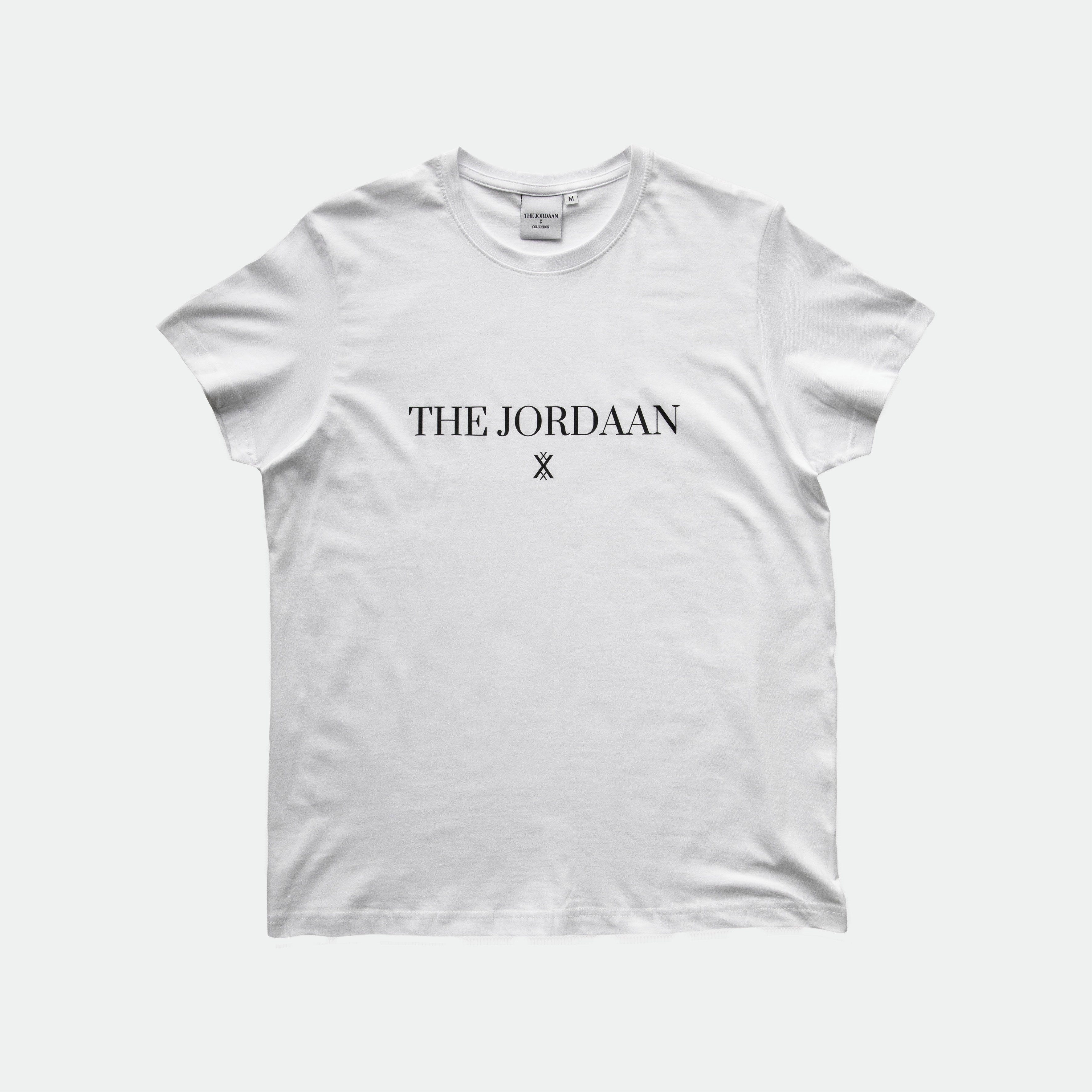 The all time classic white T-Shirt with a modern unisex fit. Made from high quality cotton with the original THE JORDAAN logo, wear it casual with your favorite denim or as a real statement piece with one of your favorite fashion items!