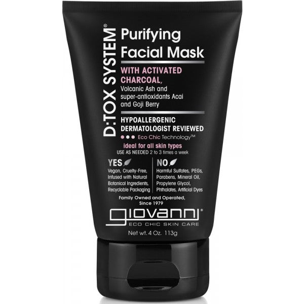 Giovanni Masque facial D tox (113g) vegan bio