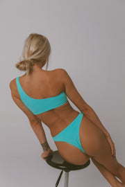 BUCKLE UP CHEEKY BIKINI BOTTOM TURQUOISE