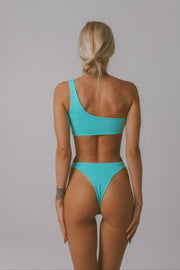 BUCKLE UP BIKINI TOP TURQUOISE