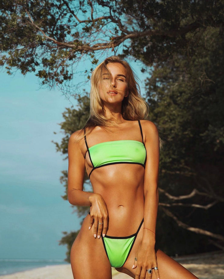 kissnthrill kiss'n'thrill NEON GREEN bikini