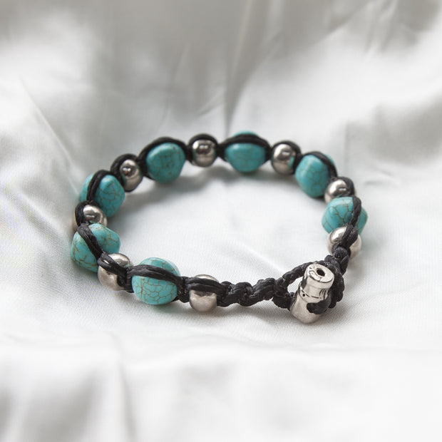 BRACELET OF LUCK, TURQUOISE GEMSTONE men's