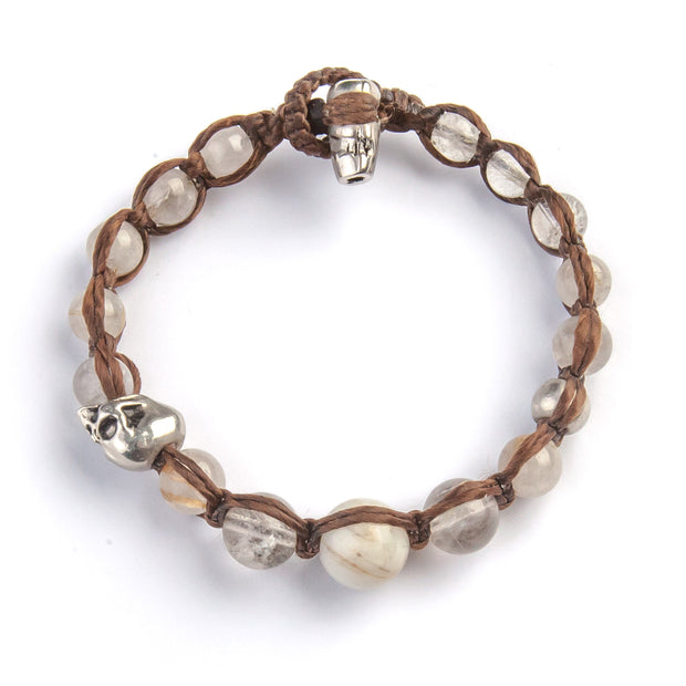 BRACELET OF POWER, GOLDEN RUTILE QUARTZ  men's