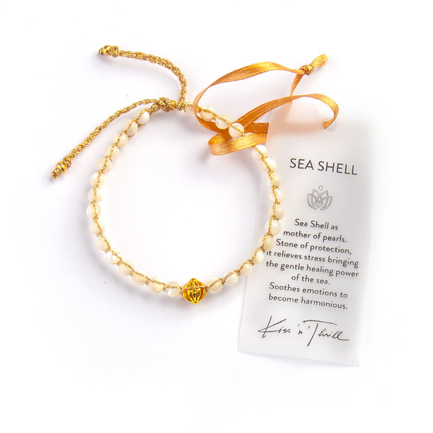 SEASHELL GOLD BRACELET women's