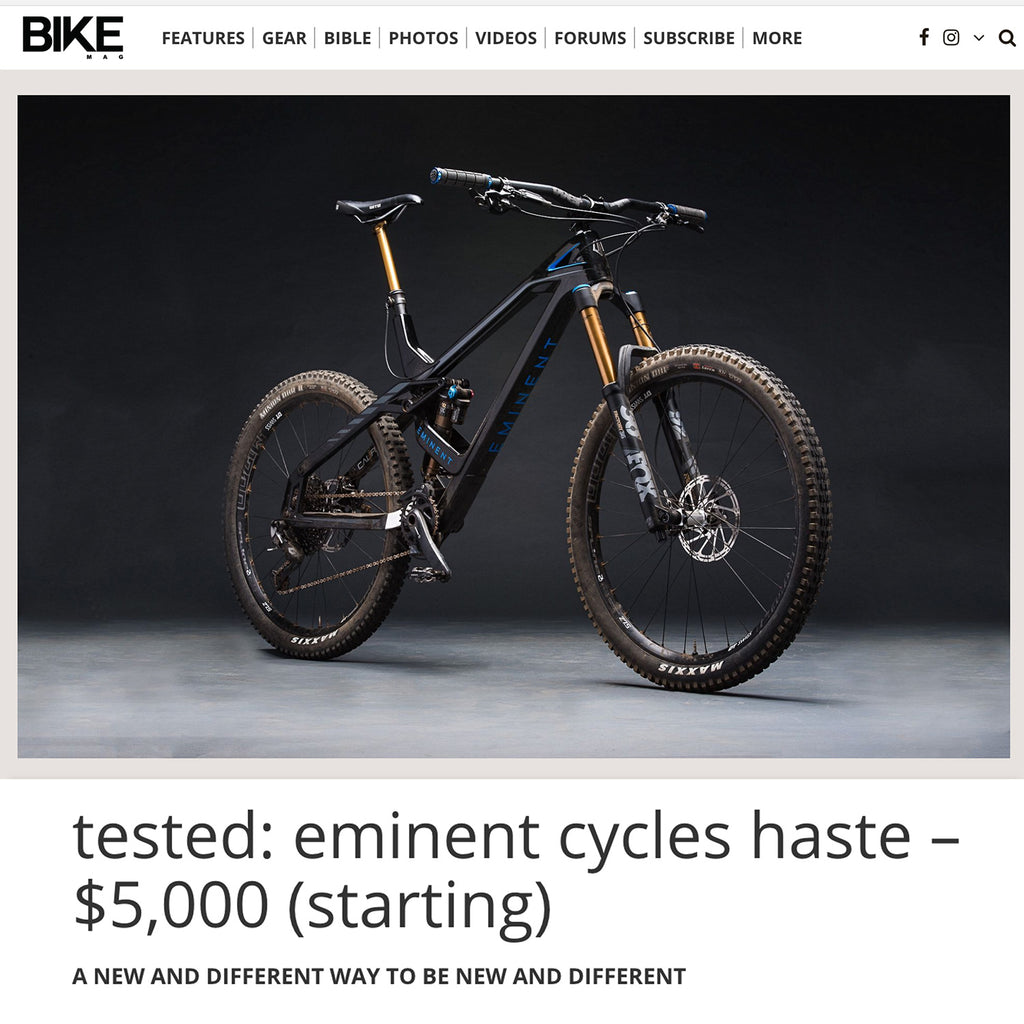 Bike Mag - Tested: Eminent Cycles Haste