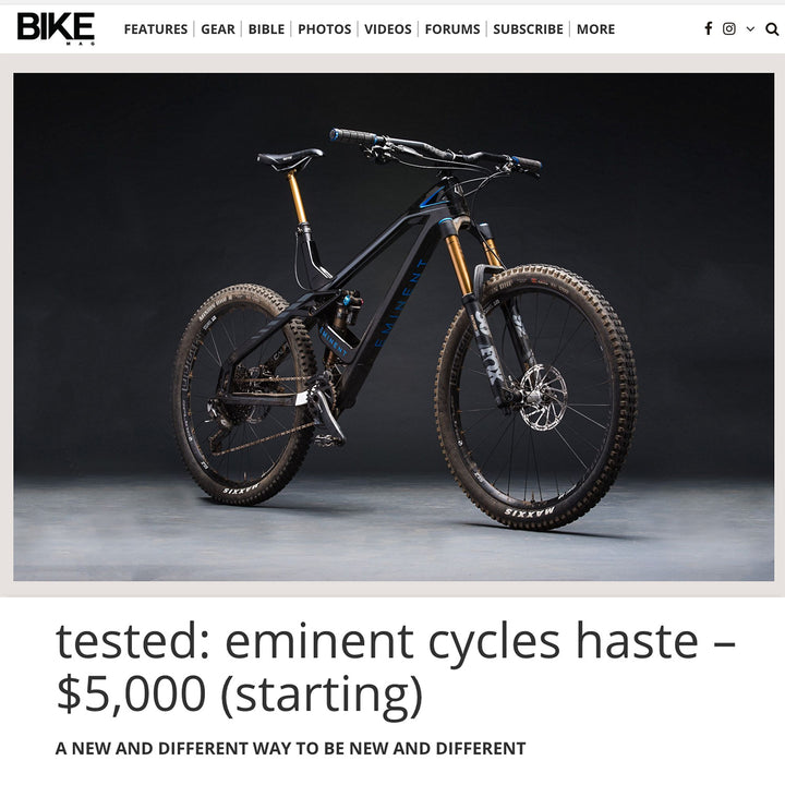 BIKE Magazine reviews the HASTE