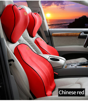 Premium CAR BACK & NECK SUPPORT PILLOW