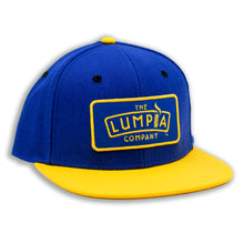 Load image into Gallery viewer, The Lumpia Company Blue + Gold Snapback