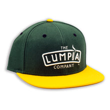 Load image into Gallery viewer, The Lumpia Company Green + Gold Snapback