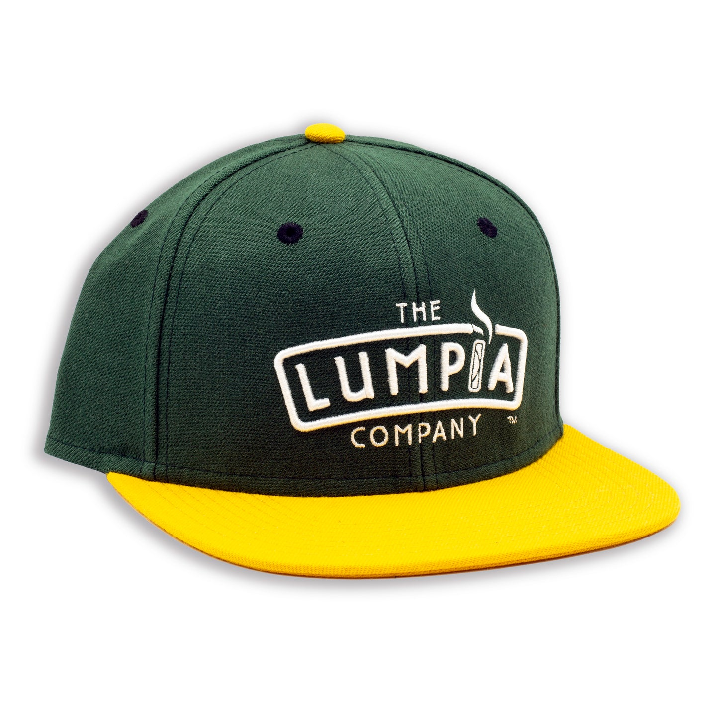 The Lumpia Company Green + Gold Snapback