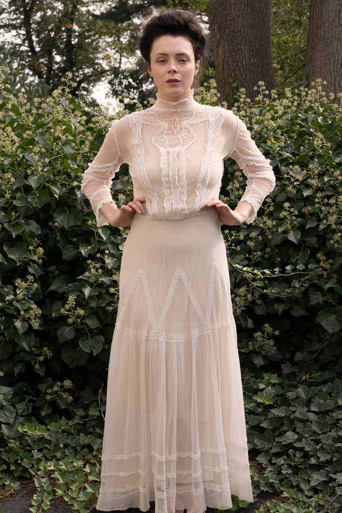 Edwardian Net and Lace Gown