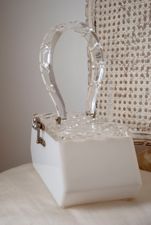 1950's Lucite Box Bag