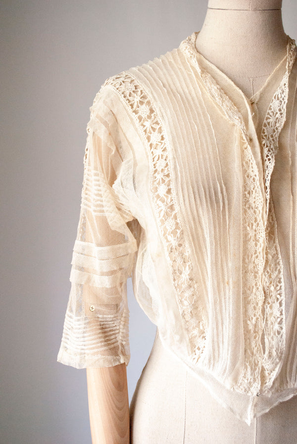 1900's Lace & Tulle Blouse