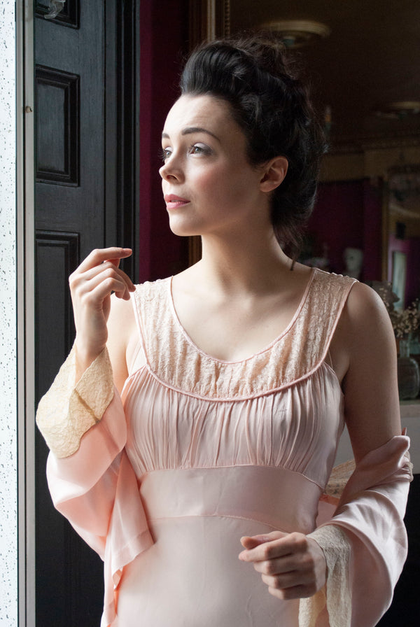 1930's Silk Crepe Set