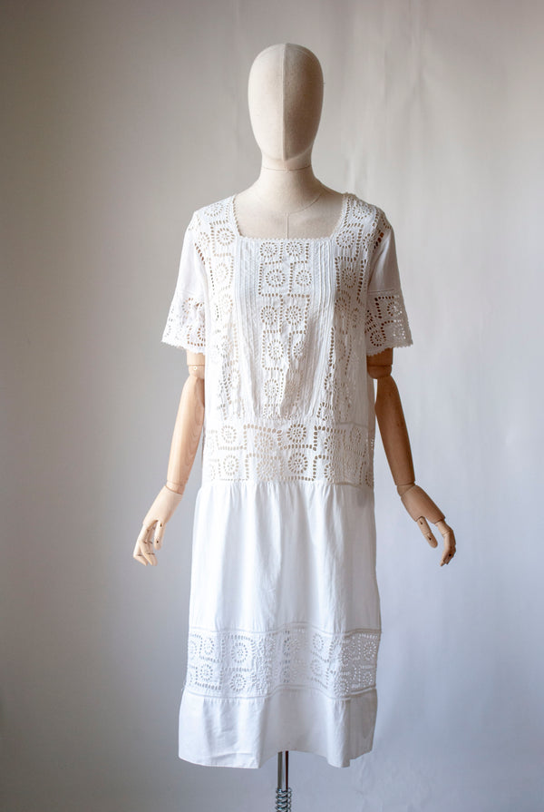 1920's Broderie Anglaise Dress