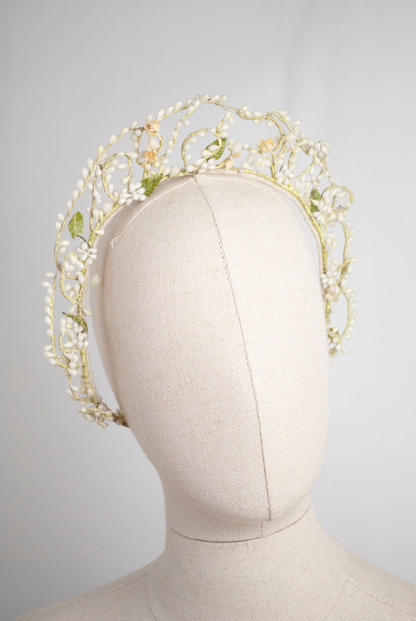 1920's Wax Blossom Crown