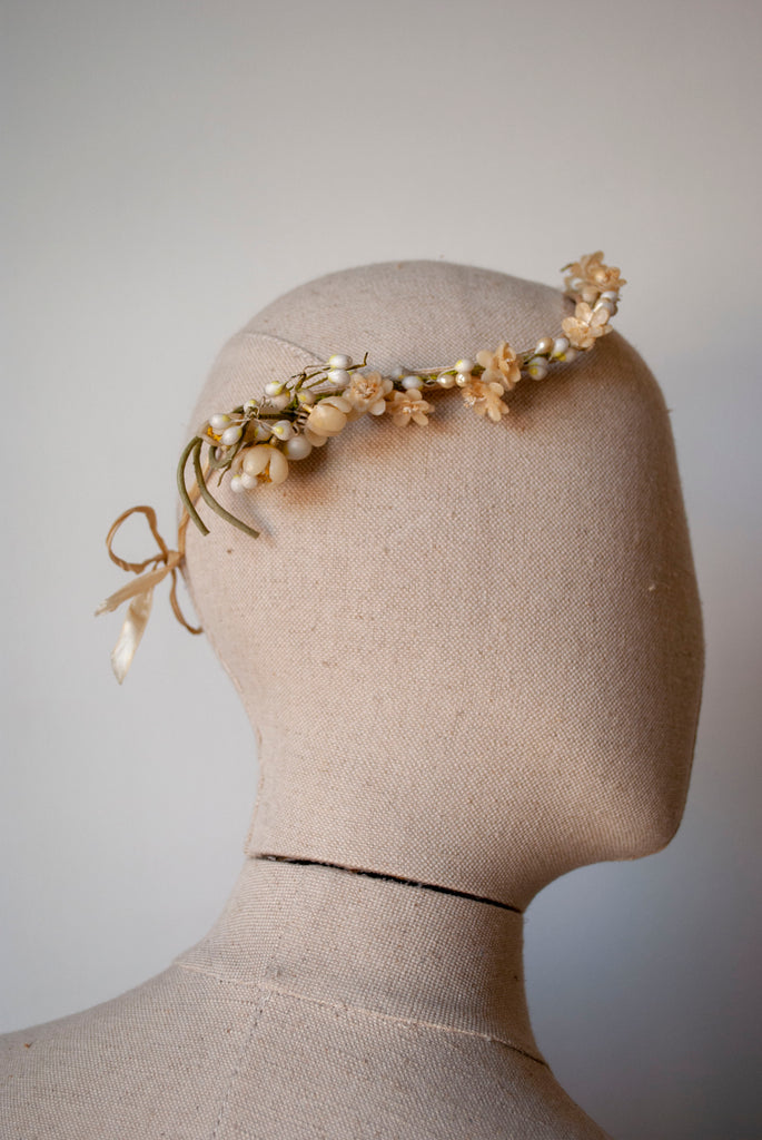 1930's Orange Blossom Circlet