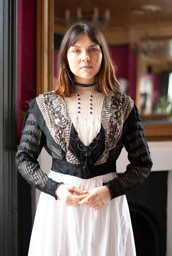 1900's Silk and Lace Bodice