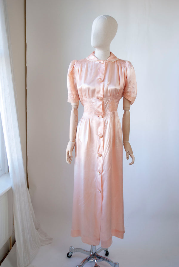 1940's Rayon Button-through Gown