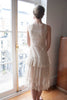 1920's Ivory Tulle and Lace Dress