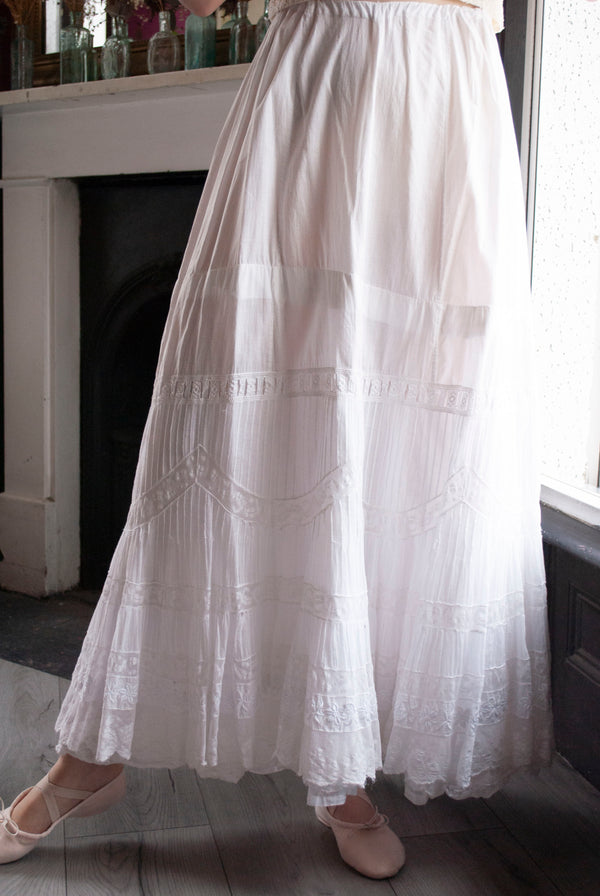 Antique Edwardian Cotton Petticoat