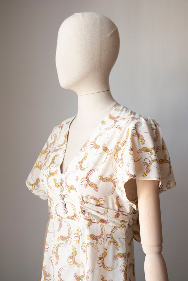 1960's Printed Cotton Dress
