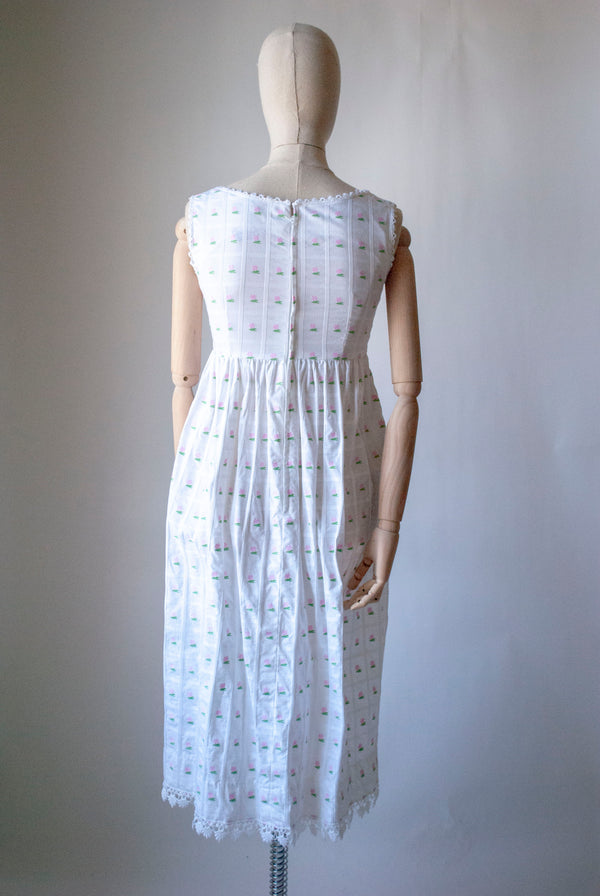 1940's Plaid Taffeta Dress