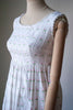 1970's Gina Fratini Embroidered Cotton Dress