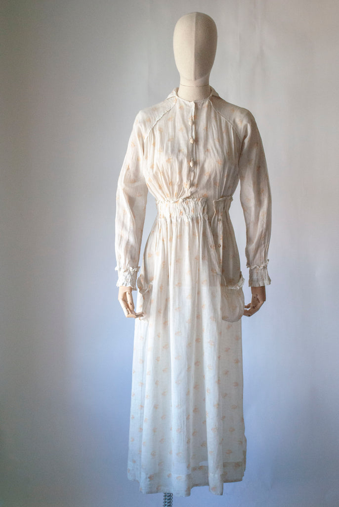 1900's Printed Cotton Dress